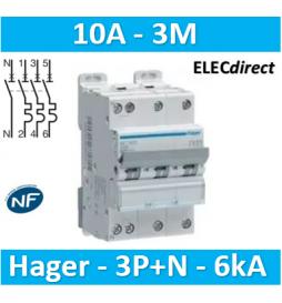 Hager - Disj.3P+N 6-10kA...