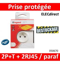 Prise protégée 2P+T + 2...